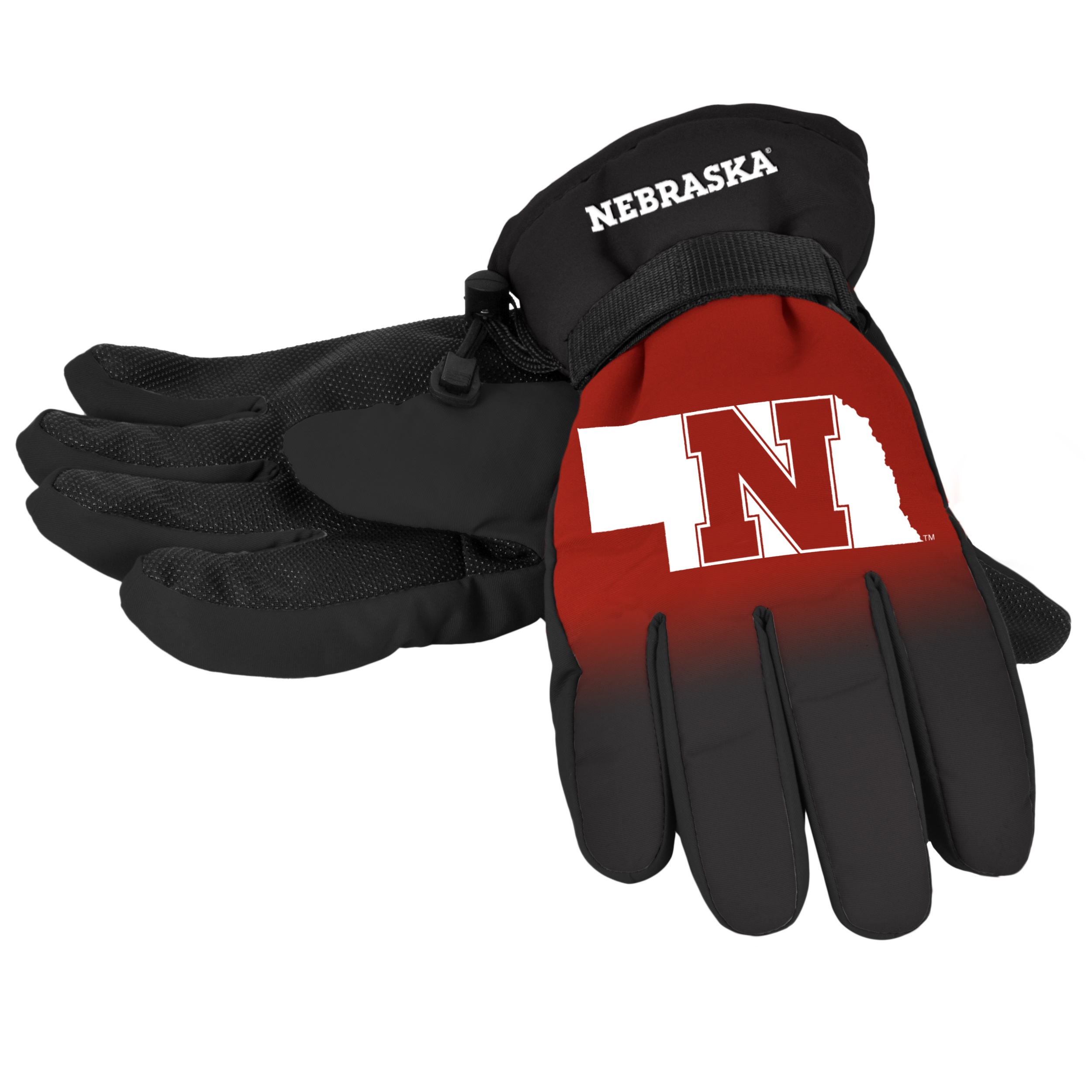 Ohio State Buckeyes Gloves Insulated Gradient Big Logo Size Large X-Large by