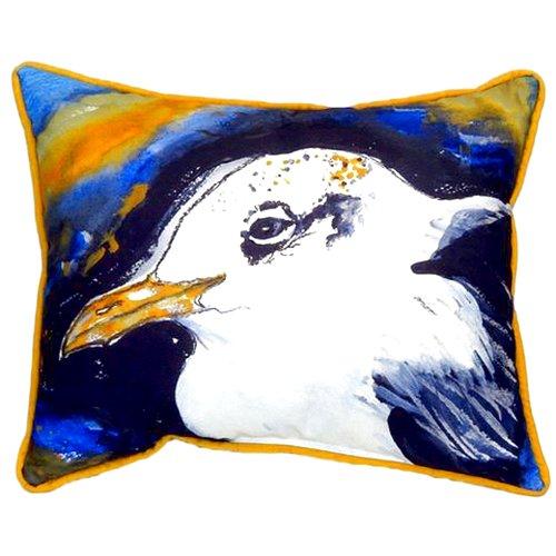 Betsy Drake Interiors Gull Portrait Left 24'' Indoor/Outdoor Lumbar Pillow