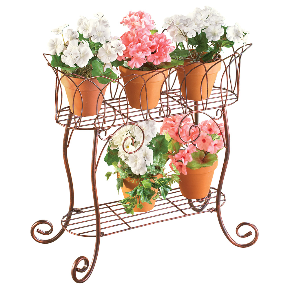 Elegant Plant Stand Display Cart by Collections Etc