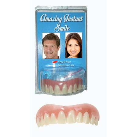 Amazing Instant Smile Cosmetic Novelty Secure Teeth- Small Size - Heavy Halloween Cosmetics