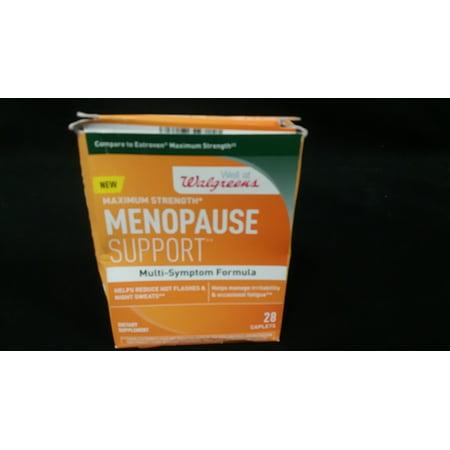 Walgreens La ménopause Soutien maximale Force multi Symptôme Formule 28 Caplets