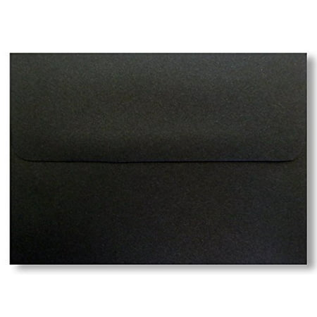 Shipped Free - 100 Jet Black A6 (4-3/4 X 6-1/2) Envelopes 70lb Square Flap for Greeting Cards Invitation Photos Birth Announcement Shower Christening Halloween Thank Wedding Craft From Envelopegallery