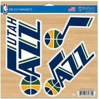"""Utah Jazz WinCraft 11"""" x 11"""" 3-Pack Car Magnet Set - No Size"""