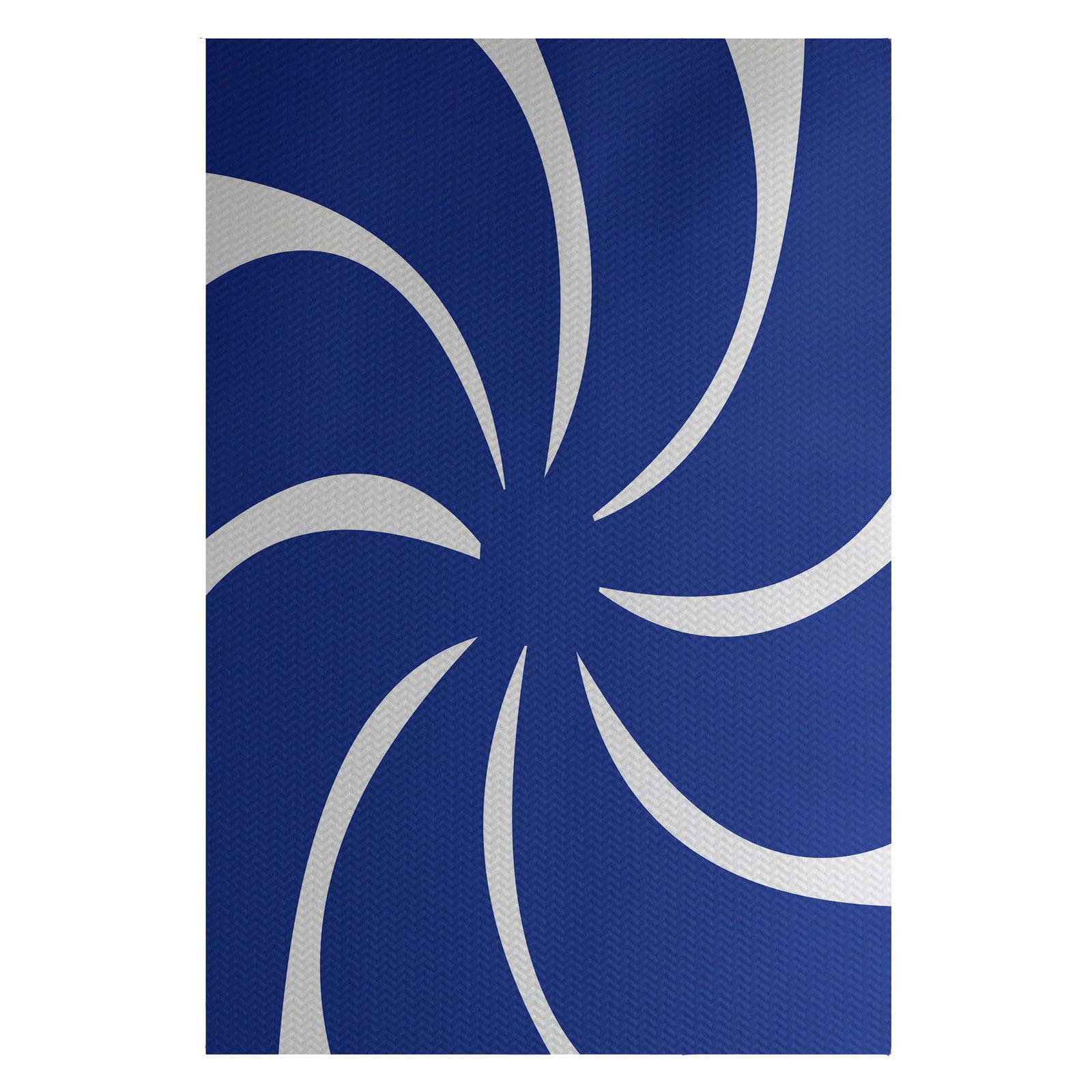 Simply Daisy 3' x 5' Whirl Of The Season Decorative Holiday Geometric Print Indoor Rug