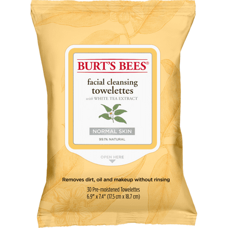 Ponds Cleansing Towelettes (Burt's Bees Facial Cleansing Towelettes with White Tea Extract 30 Ct)