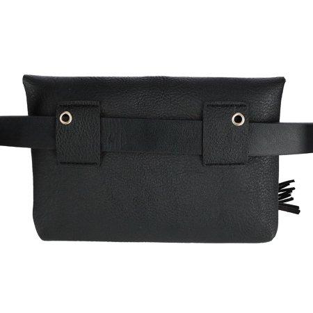 CTM Flap Front Tassel Waist Pack Belt Bag - image 2 of 4