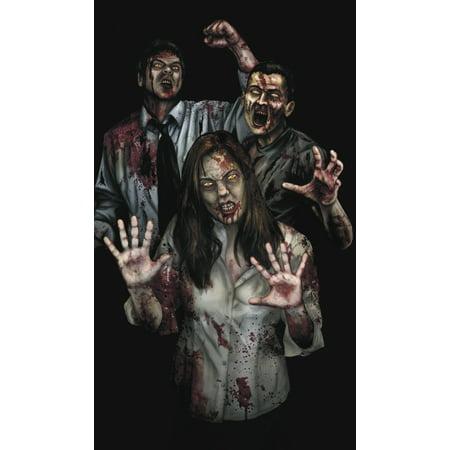 WOWindow Posters Susie's Revenge Zombies Halloween Window Decoration 34.5