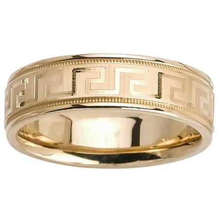 18K Gold Greek Key Modern Comfort Fit Women