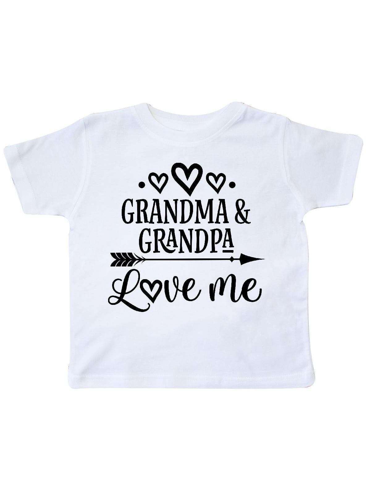 Grandma Grandpa Love Me Arrow Toddler T-Shirt