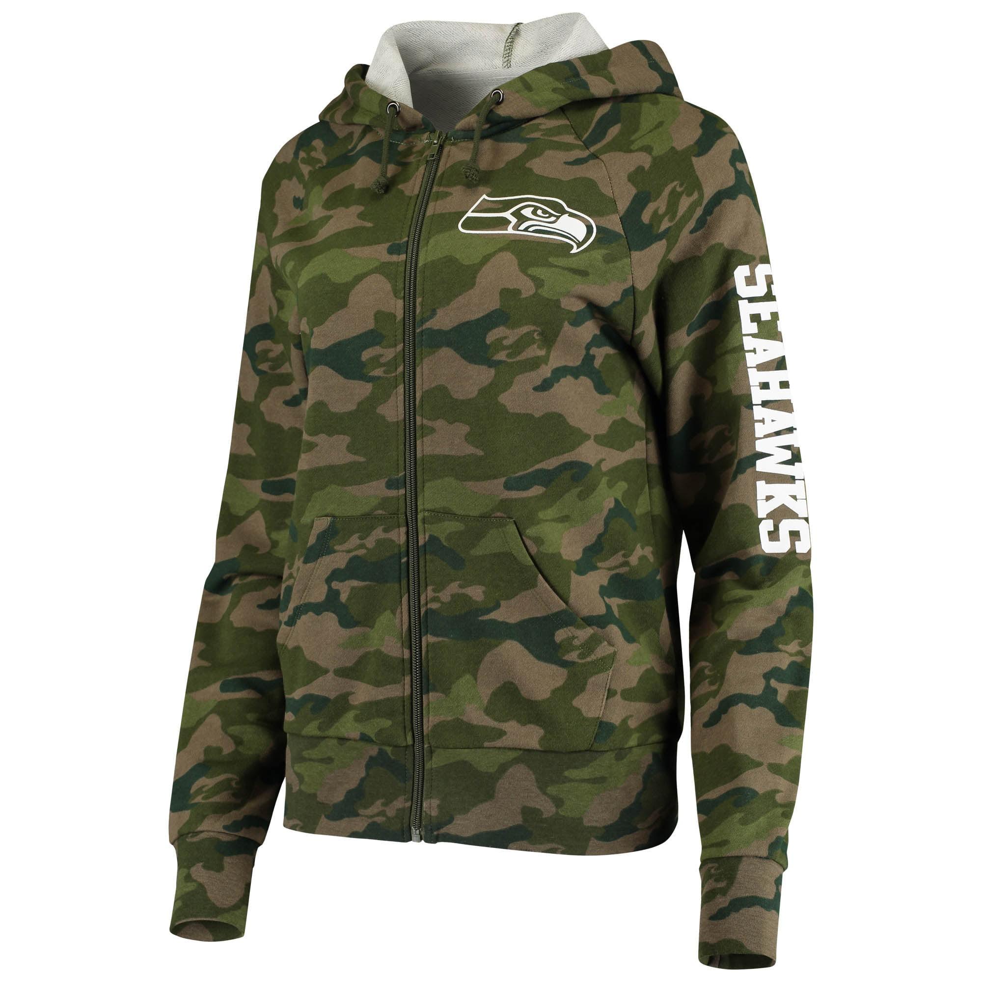 New Era Seattle Seahawks Halfzip Hoody Camo Collection