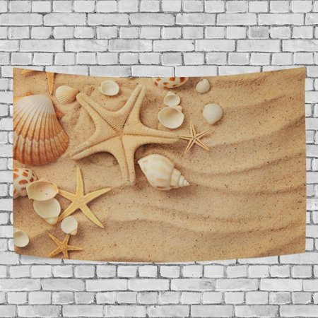 MYPOP Seashells Tapestry Wall Hanging Decoration Home Decor Living Room Dorm 60x51 inches