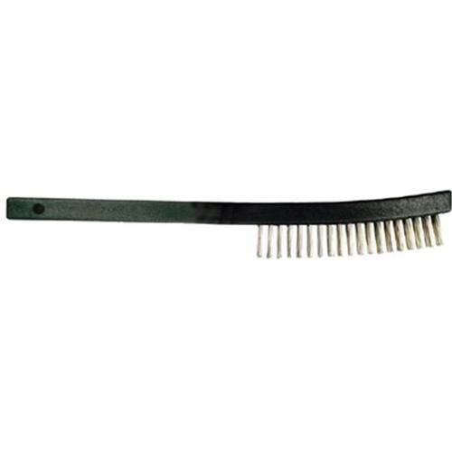 Advance Brush 410-85014 Curved Handle Scratch Brush 3X19 Rows Ss Wire