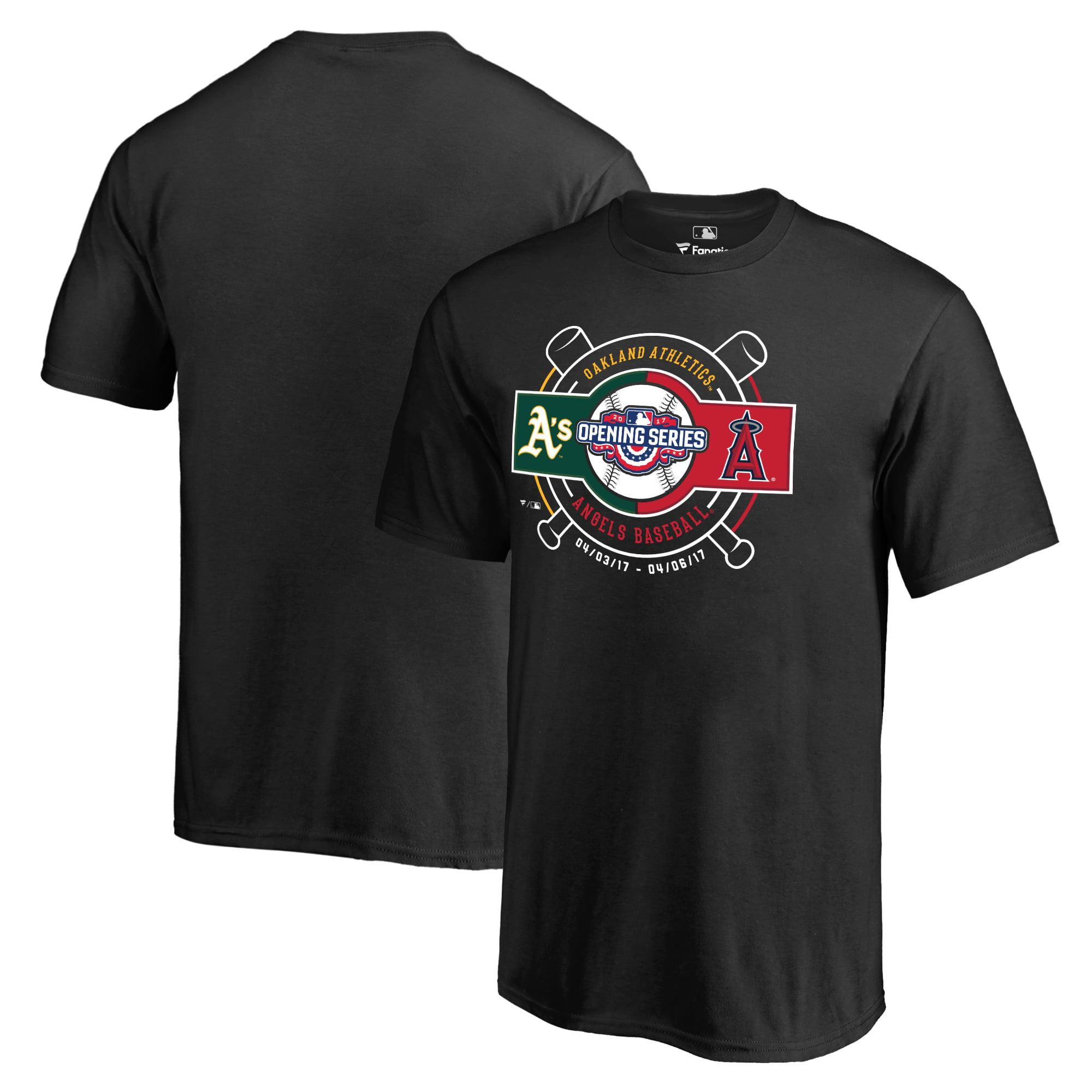 Oakland Athletics vs. Los Angeles Angels Fanatics Branded Youth 2017 Opening Series T-Shirt - Black