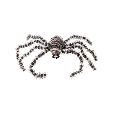 Creepy Crawler Striped Black And White Spider Prop Halloween Decoration - Creepy Food Ideas For Halloween Party