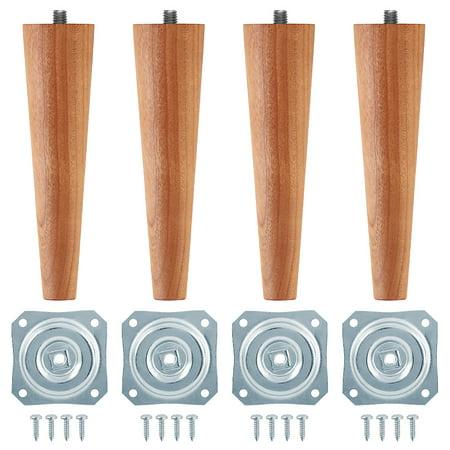 6 Mid Century Modern Furniture Feet Straight Mounting Plates