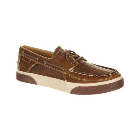 Men's Durango Boot DDB0143 Music City Gator Emboss Boat Shoe ()