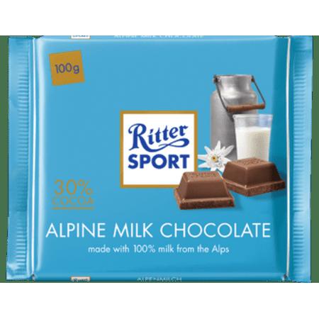 Ritter Sport Alpine Milk Chocolate, 100g