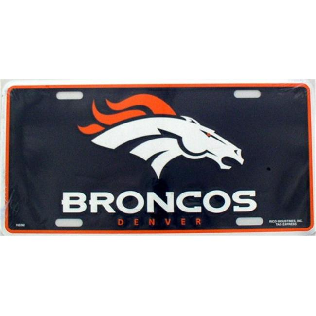 LP - 719 Denver Broncos NFL Football License Plate - 1601M
