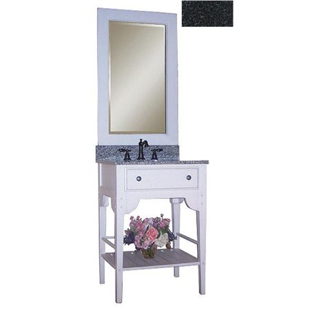 - Kaco International 340-2400-W-AB Dover 24 in. Vanity with Cottage White Sherwin Williams Finish and Black Granite Top