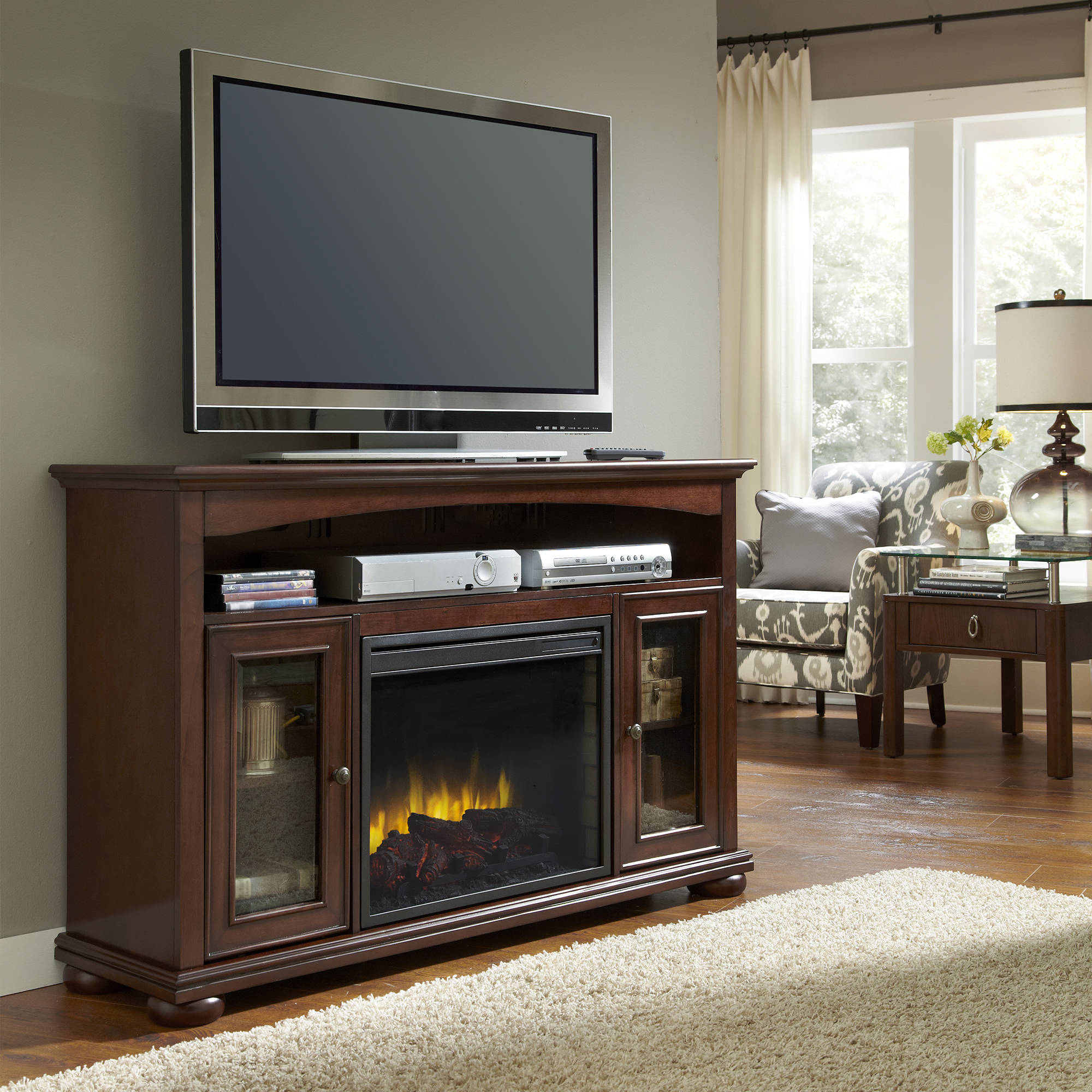 pleasant hearth 238 11 68 everest media fireplace walmart com
