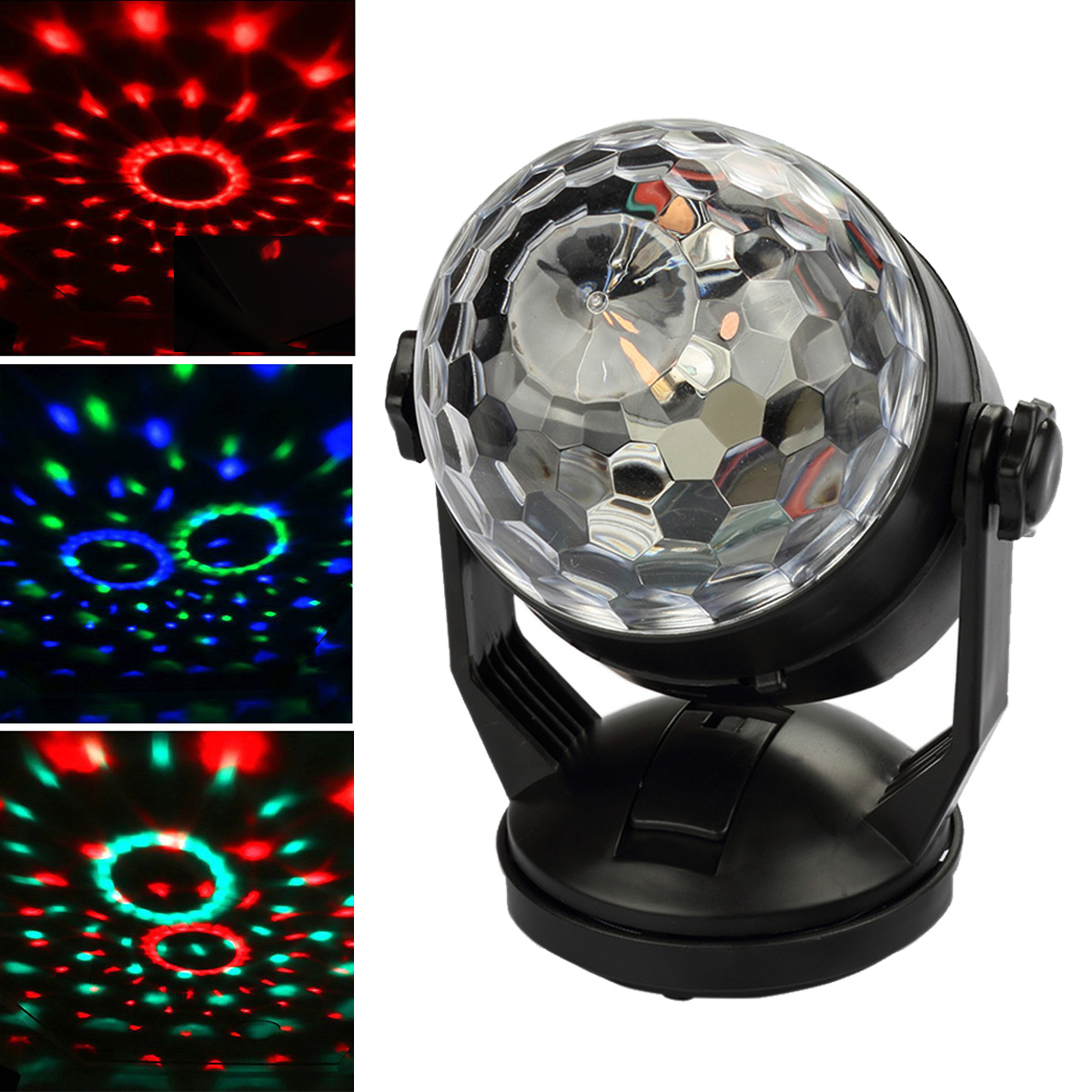 CoastaCloud 3W Mini RGB LED Crystal Magic Ball Stage Lighting Effect Lamp Bulb Party Disco Club DJ Light for Halloween... by CoastaCloud