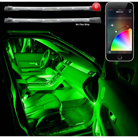 Xkchrome App Control Six 10 Flexible Strip Car Interior Mini Kit