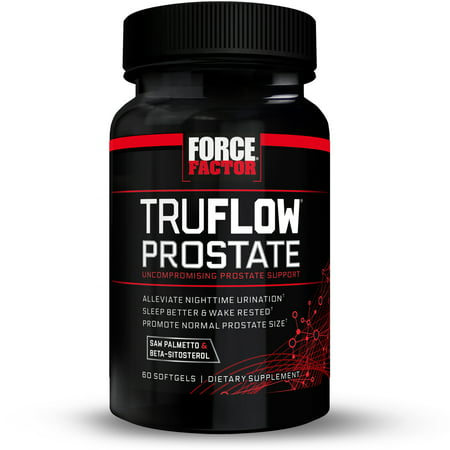 Force Factor TruFlow Prostate Support Softgels, 60 - Botanical Prostate Support