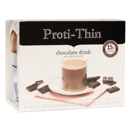 Proti-Thin - Chocolate Protein Anytime Ready To Drink - High Protein - Low Calorie - Low Fat - Low Sugar - 6