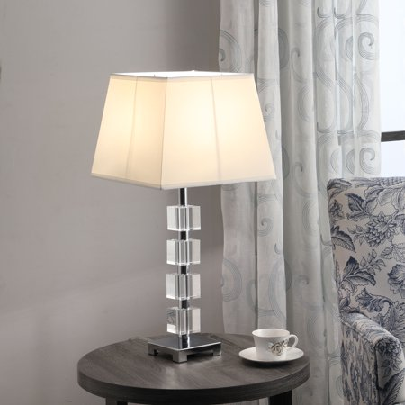 "25"" In Wendi Glam Crystal Cube Ice Table Lamp"