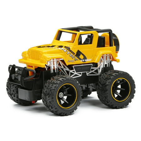 New Bright 1 24 Scale R C Jeep Wrangler Truck Yellow Walmart Com