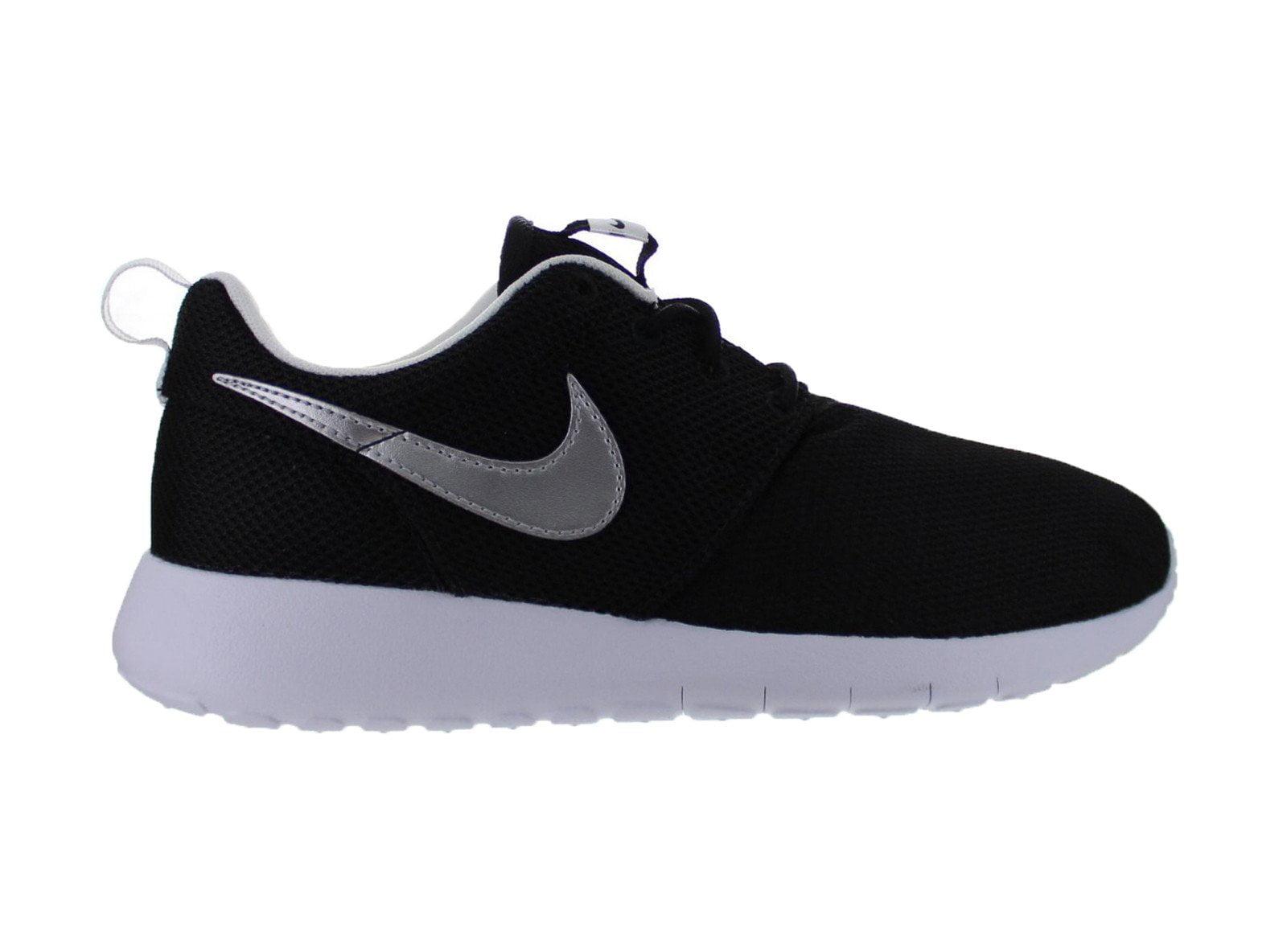 Nike Roshe One GS Black Metallic Silver