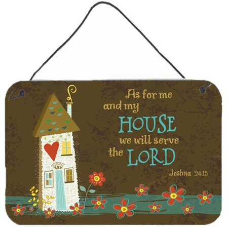 Caroline's Treasures As For Me And My House by Valerie Hart Graphic Art (As For Me And My House Scripture)