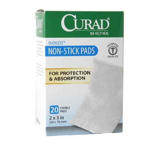 Curad Telfa Non-Stick Sterile Pads 2 Inches x Inches 20 ea (Pack of 2)