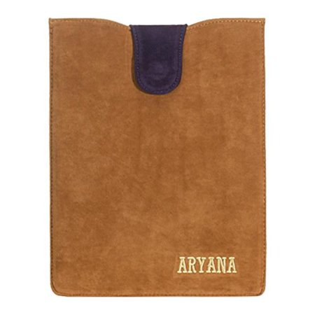 Aryana Ella 1 Brn Chic Basic Brown Suede Flap Closure Essential Ipad Cover