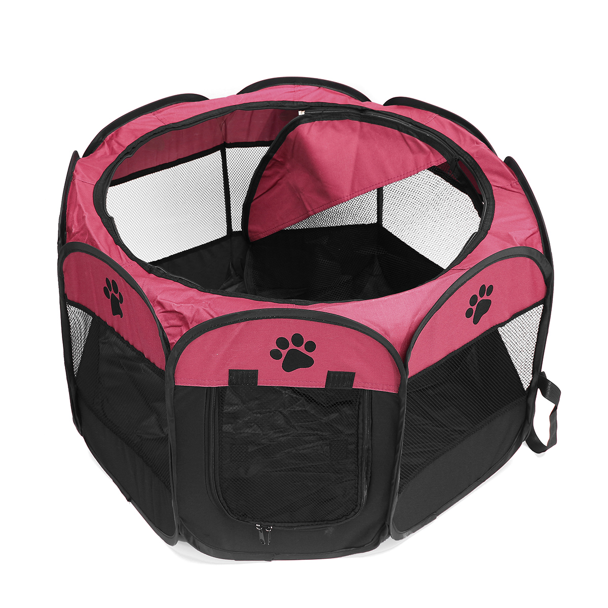 Indoor/outdoor Folding Pet Dog Cat Tent Playpen Exercise Play Pen Soft Fence Cage Kennel Crate