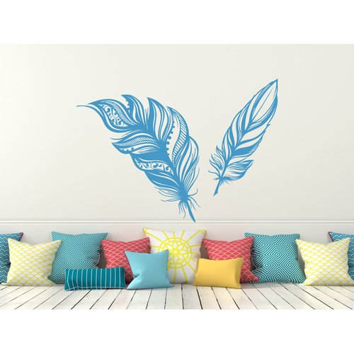 Decal House Feathers Plume Wall Decal