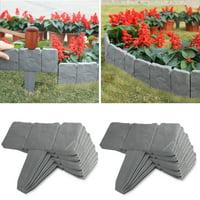 20 Pcs Cobbled Stone Border Garden Edging Lawn Border Hammer In Lawn Plant Border