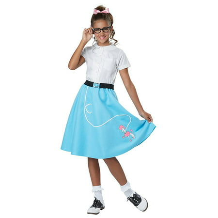 50's Blue Poodle Skirt Child (50's Girl Costume Accessories)