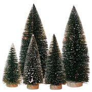 HURRISE 1Pc Mini Christmas Tree Snow Frost Home Tabletop Decor DIY Small Pine Trees Children Gift, Christmas Tree Decor, Mini Pine Trees