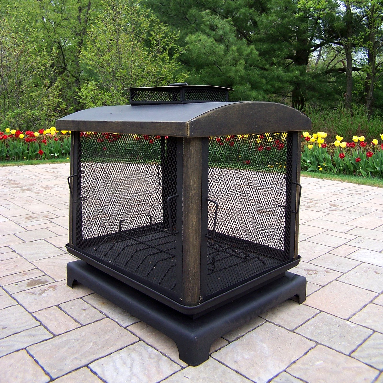 Oakland Living Black Outdoor Fireplace by Oakland Living Corporation