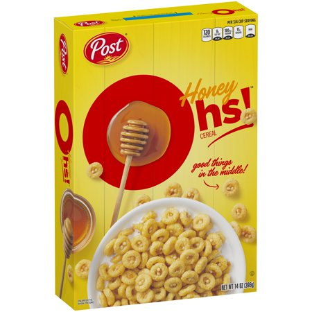 Cereal Dish - (2 Pack) Post Honey Oh's Breakfast Cereal, Filled O's, 14 Oz