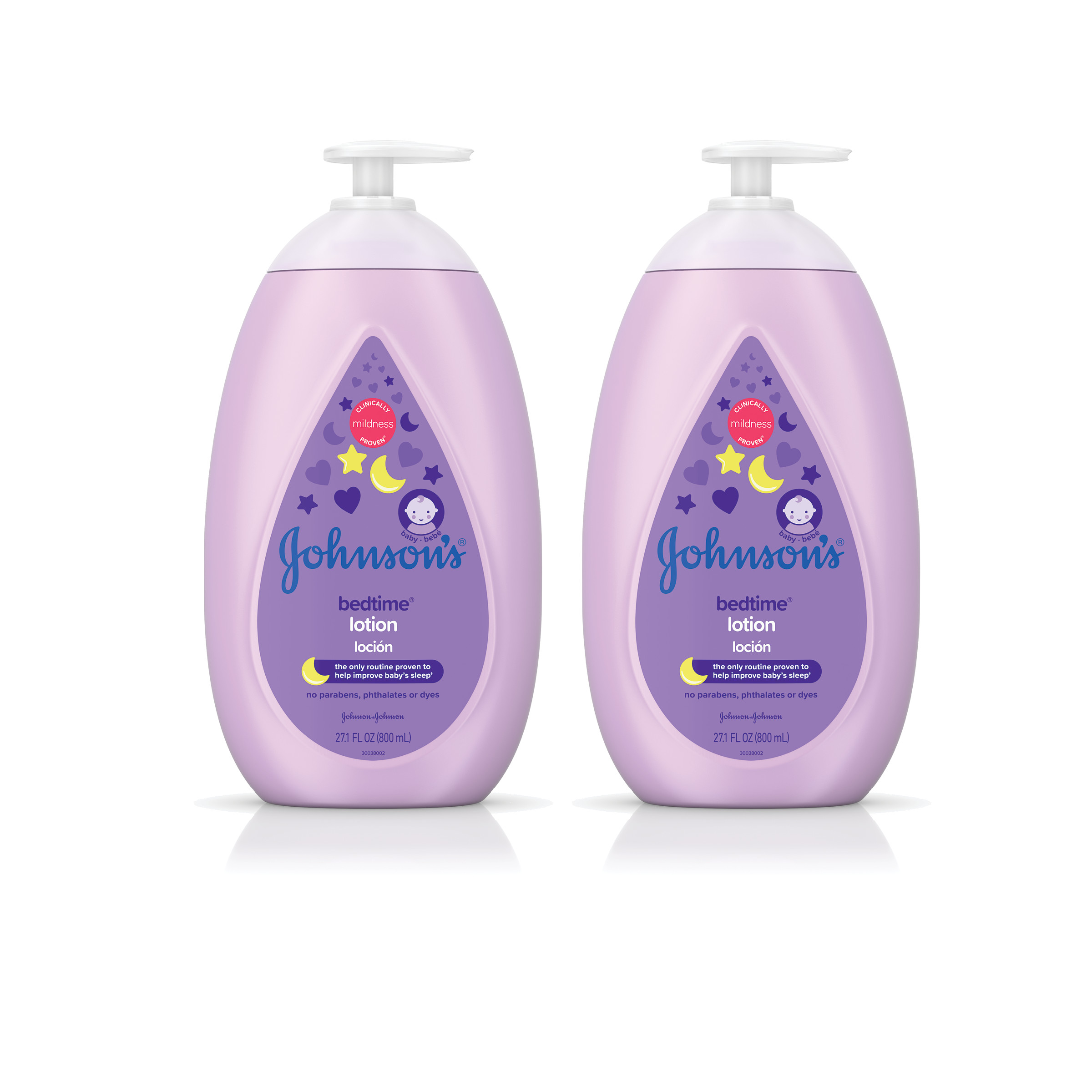 Johnson's Bedtime Calming Baby Lotion, Twin-Pack, 2x 27.1 Fl. Oz