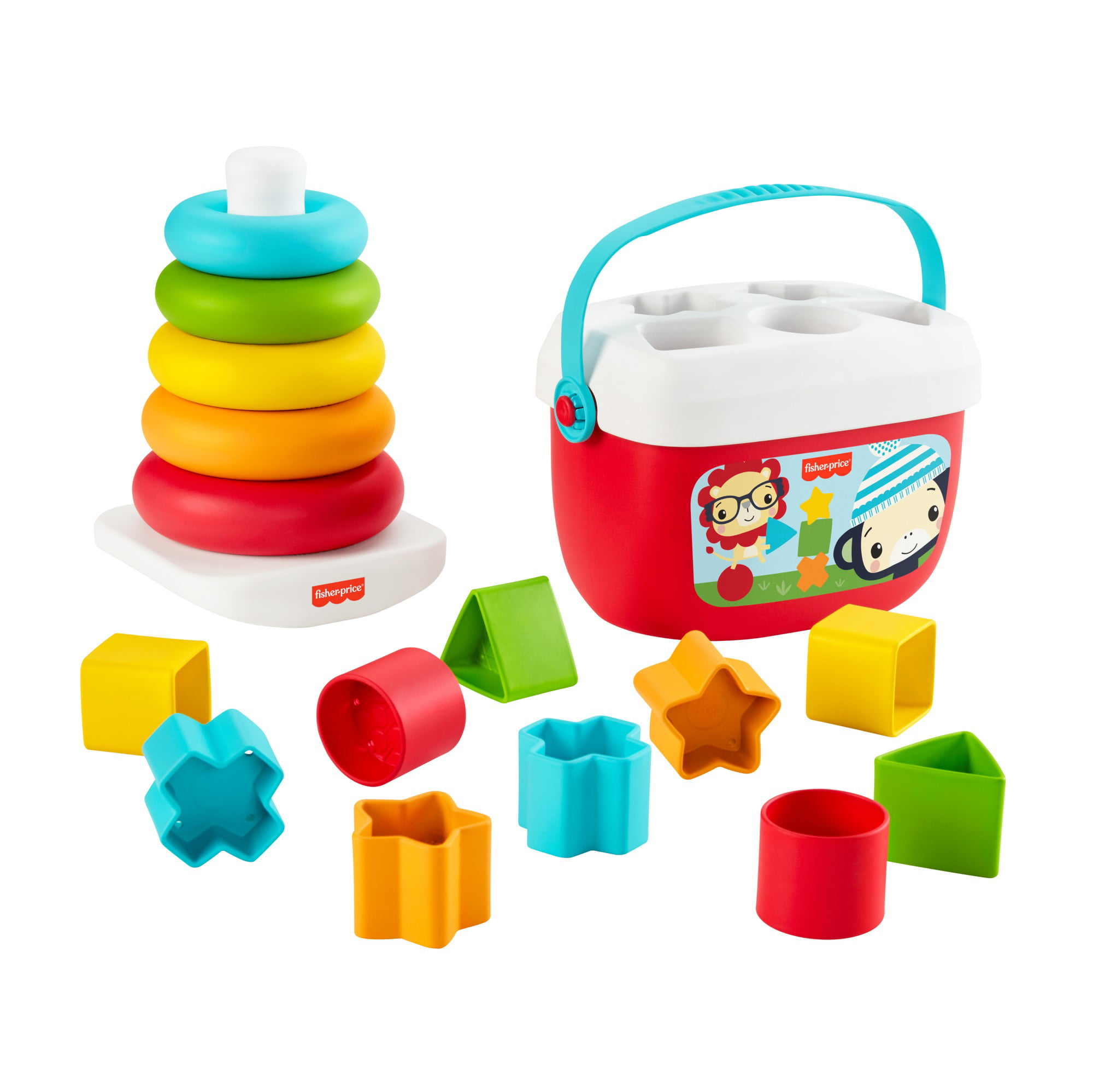 Fisher Price Rock A Stack Classic With 5 Colorful Rings Walmart Com Walmart Com