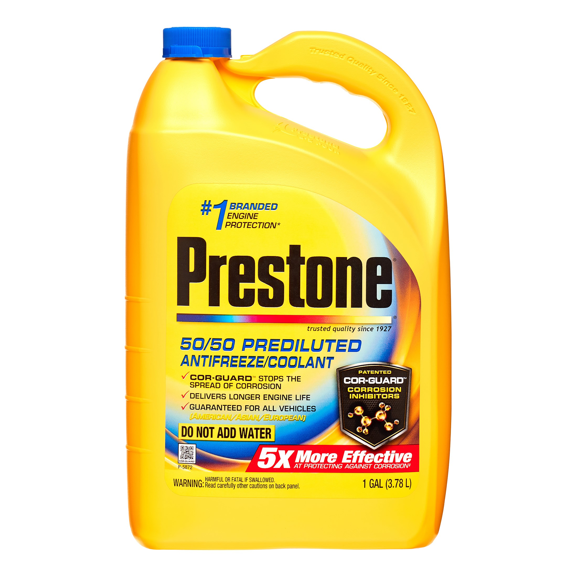 Prestone Extended Life Prediluted Antifreeze/Coolant 1-Gallon Jug