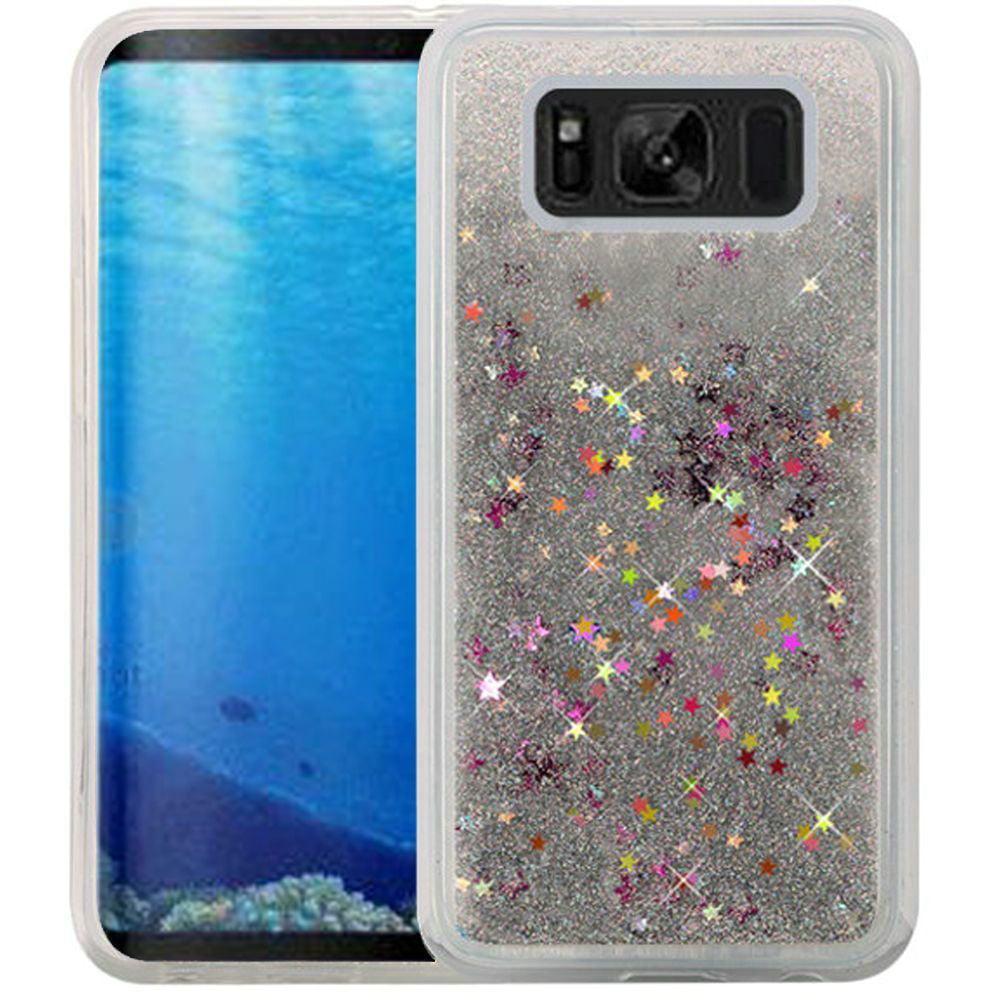 Samsung Galaxy S8 Case - Wydan Liquid Sand Glitter Bling Shockproof Fun Phone Cover Silver