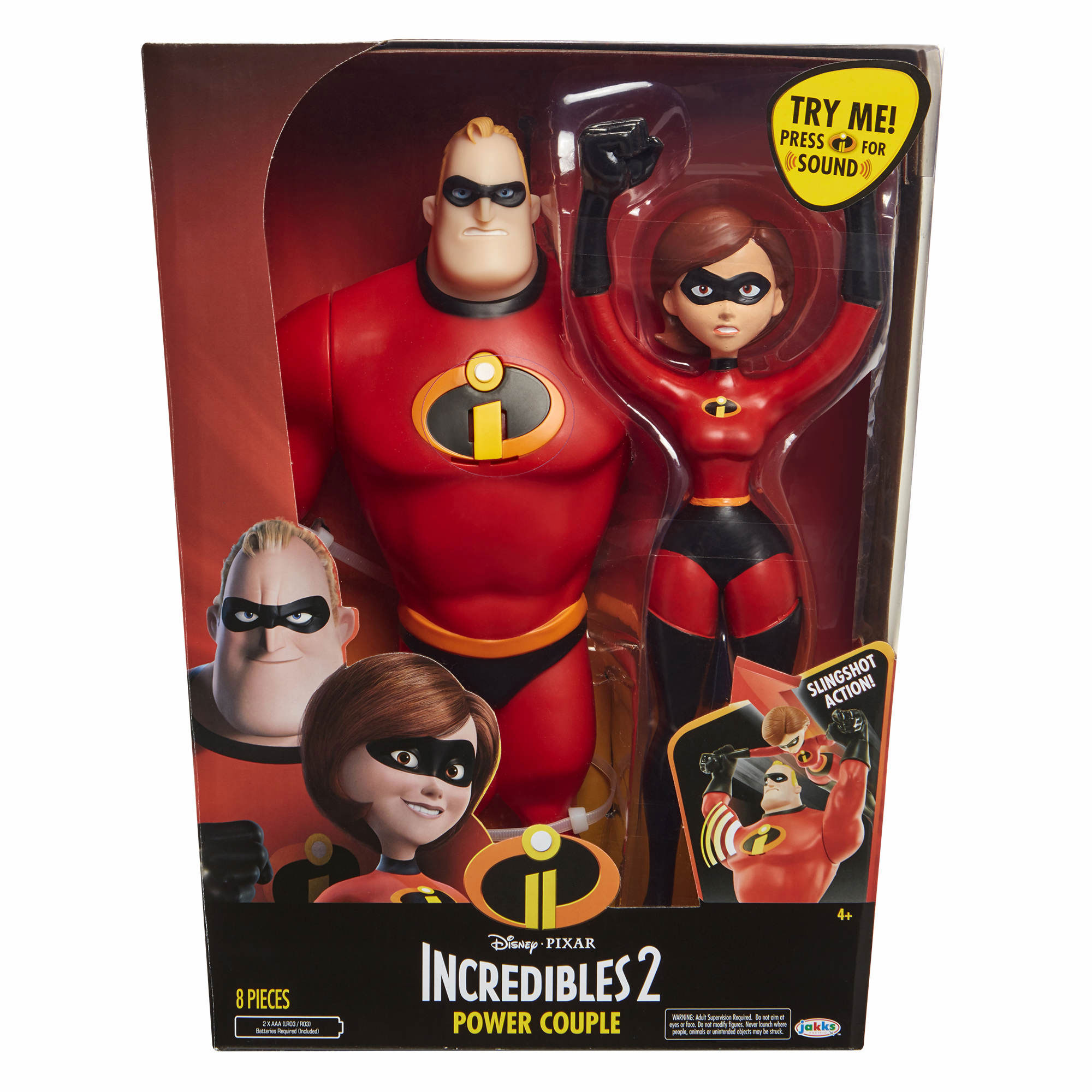 Incredibles 2 Mr. Incredible and Elastigirl Figure Set
