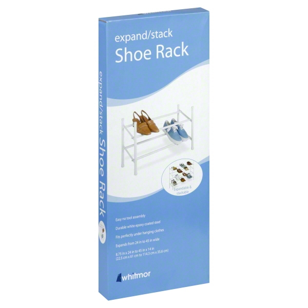 Whitmor 2-Tier Expand   Stack Shoe Rack White by Whitmor