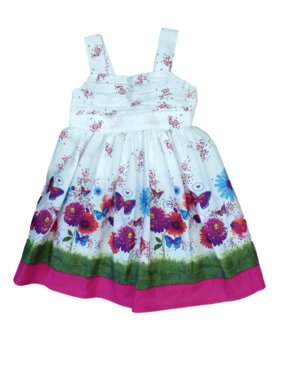 cc5a45f0 Product Image Blueberi Boulevard Infant & Toddler Girls Flower & Butterfly  Dress Sundress