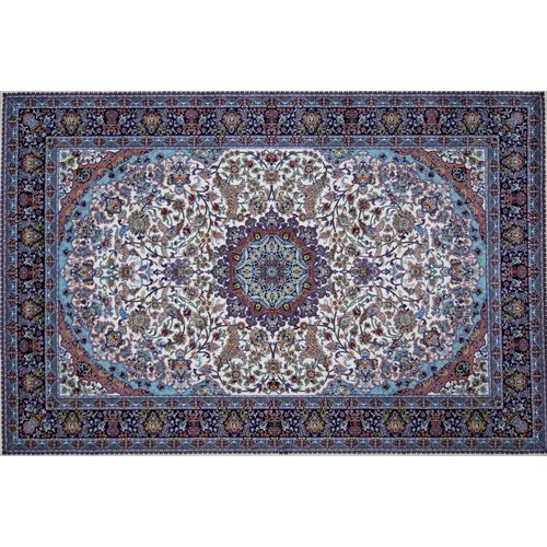 Astoria Grand Mulga Hand Look Persian Wool Blue/Green/Brown Area Rug