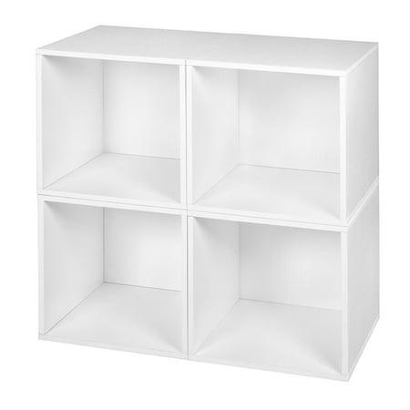 Niche Cubo Storage Set 4 Cubes White Wood Grain